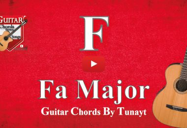 gitarda fa,fa major,fa majör,fa chord on guitar,how to play
