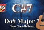 How to play c#7 chord on guitar,gitarda c#7 akoru nasıl basılır