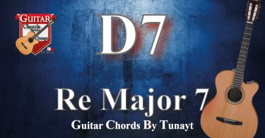 How to play d7 chord on guitar,gitarda d7 akoru nasıl basılır
