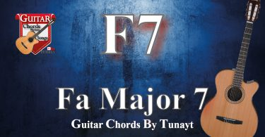 Fa major 7   How to play F7 chords on guitar