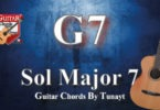 how to play sol major7 chord on guitar